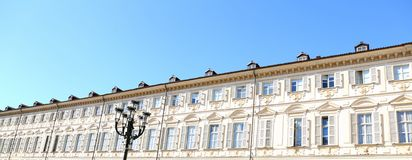 Building on Square of Vittorio Veneto Stock Image