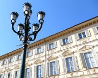 Building on Square of Vittorio Veneto Royalty Free Stock Photography