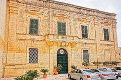 Building at St Paul Cathedral Square in Mdina Malta. Building at St Paul Cathedral Square in Mdina, Malta Royalty Free Stock Photos