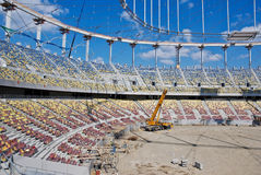 Building a Stadium - Construction Site Royalty Free Stock Photos