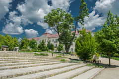 Building And Stairs With Trees. Historic Building And Stairs With Trees stock images