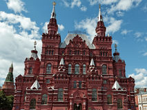 The building of the State historical Museum on Moscow Stock Photos