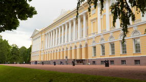 The building of the State Russian Museum in St. Petersburg stock video