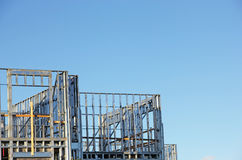 Building with Steel frame Royalty Free Stock Image