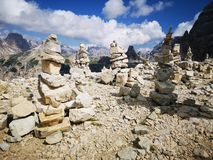 Building of stones in the Mountains royalty free stock photography