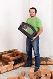 Building a stove for heating Stock Photography