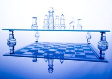 Building a strategy. Chess - a game for two people that is played on a board with 64 black and white squares called a chessboard Royalty Free Stock Images