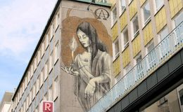 Building, Street Art, Wall, Mural Royalty Free Stock Photography