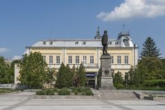 Building and street at the center of town of Silistra, Bulgaria royalty free stock images