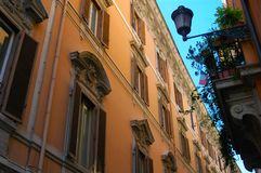 Building in a street in Rome, Italy stock photo