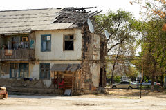 Building with structural damage Royalty Free Stock Image