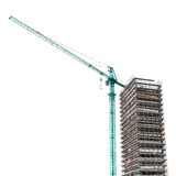 Building structure with crane Stock Image