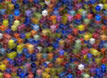 Building structure from cubes. Abstract architecture backgrounds Royalty Free Stock Photo