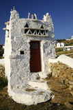 Building structure, Mykonos. Royalty Free Stock Photography