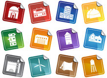 Building Structure Set - Sticker Royalty Free Stock Images