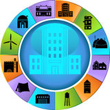 Building Structure Set - Wheel Royalty Free Stock Image