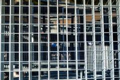 Building structures steel grids floor. Stock Photos