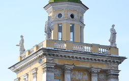 The building is in the style of Stalin in Kolpino. Royalty Free Stock Photo