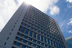 Building. Super modern  building Business on blue sky Stock Image