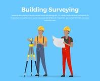 Building Surveying Vector Illustration Royalty Free Stock Photos