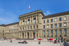 Building of the Swiss Federal Institute of Technology. Zurich, Switzerland - 12 April, 2015: facade of the main building of the Swiss Federal Institute of Stock Photo
