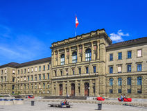Building of the Swiss Federal Institute of Technology in Zurich. Zurich, Switzerland - 12 April, 2015: facade of the Swiss Federal Institute of Technology Royalty Free Stock Photos