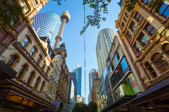 Building in Sydney. Sydney, Australia - February 22, 2017: Beautiful Building and shopping area in Sydney stock image