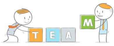 Building a team. Doodle stick figure: Teamwork concept Stock Photo