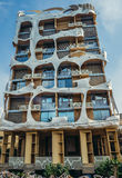 Building in Tel Aviv. Tel Aviv, Israel - October 18, 2015. Landmark building known as Crazy House designed by Leon Gaignebet in Tel Aviv stock images