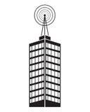 Building telecommunication mast television Stock Photo