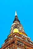 Building in temple area Wat Yai Chai Mongkol Royalty Free Stock Photography