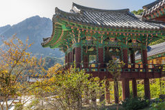 The building temple in Seoraksan National Park, South korea Royalty Free Stock Images