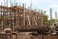 Building of temple under construction. Royalty Free Stock Photos