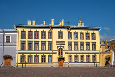 Building on the territory of the Peter and Paul fortress in Saint-Petersburg. Stock Image