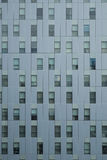 Building texture. Detail of a modern building with a geometric composition Royalty Free Stock Photography