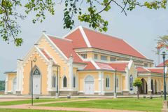 Building,Thailand. Thailand temple built Gothic style Royalty Free Stock Photography