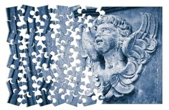 Free Building The Faith. Concept Image With A Sculpture Of An Angel O Royalty Free Stock Image - 115607336