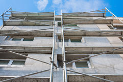 Building thermal insulation scaffolding Stock Image