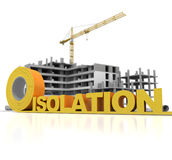 Building thermal insulation Royalty Free Stock Image