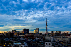 Building in Tokyo Janpan after sunset with cloud , twilight time Stock Image