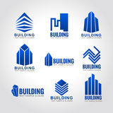 9 building tone blue sky logo Stock Images