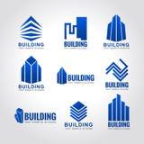 9 building tone blue sky logo Stock Images