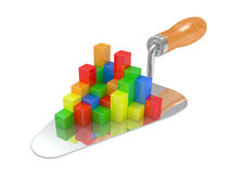 The building tool and the diagramme Royalty Free Stock Photos