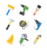 Building tool icon set Stock Photos
