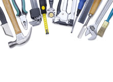 Building tools. On a white background Stock Image