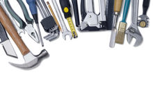 Building tools. On a white background Stock Photo