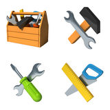 Building tools. Instruments and toolbox Royalty Free Stock Image