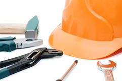 Building tools isolated over white Stock Photos