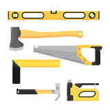 Building tools isolated on white background Royalty Free Stock Photos
