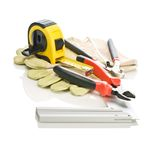Building Tools On Gloves Royalty Free Stock Photography